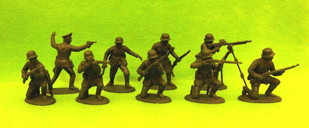 Expeditionary Force GRM02sh - WW2 German Infantry - Rifles Defence Section - 60mm 1/32 Scale