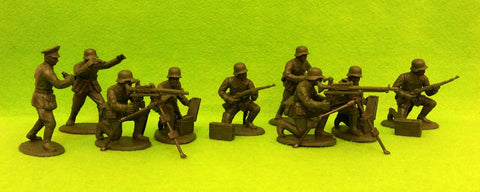 Expeditionary Force GRM03sh - WW2 German Infantry - Machine Gun Section - 60mm 1/32 Scale