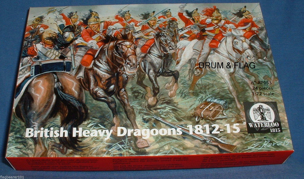Waterloo 1815 AP053 - Napoleonic British Heavy Dragoons. 1812-15. 1/72 Scale. 12 Figures