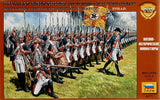 ZVEZDA 8071: PRUSSIAN GRENADIERS OF FREDERICK THE GREAT. 1:72. SEVEN YEARS WAR.
