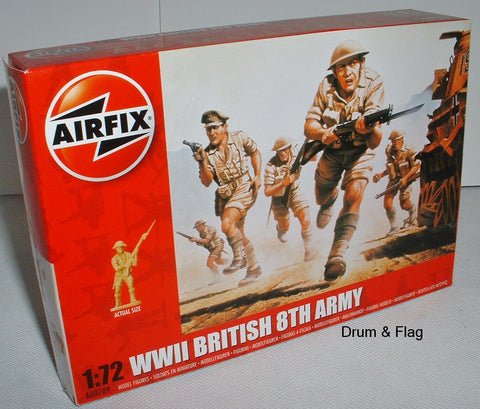 Airfix 00709 WW2 British 8th Army. 1/72 Scale