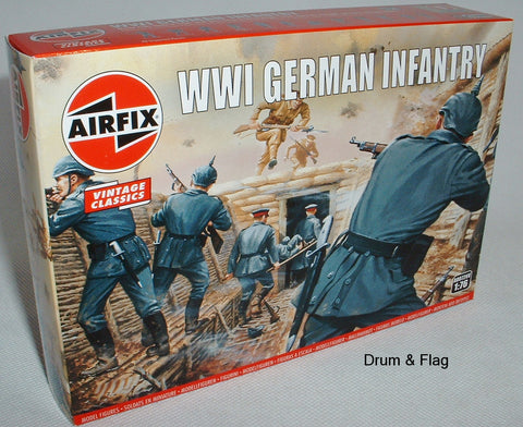 AIRFIX 0726  WW1 GERMAN INFANTRY. 1/76 SCALE FIGURES. EARLY WAR PICKELHAUBE