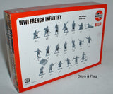 AIRFIX 0728 WW1 FRENCH INFANTRY. 1/76 SCALE FIGURES.