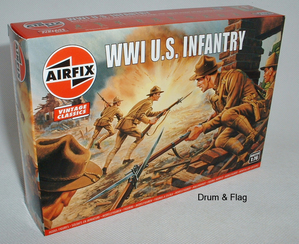 AIRFIX 0729 WW1 U.S. INFANTRY. 1/76 SCALE FIGURES. AMERICAN 'DOUGHBOYS'