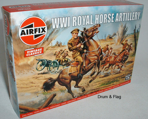 AIRFIX 0731  WW1 ROYAL HORSE ARTILLERY BRITISH . 1/76 SCALE FIGURES.