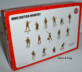 AIRFIX 00763. WW2 BRITISH INFANTRY.  1/72 SCALE UNPAINTED PLASTIC FIGURES
