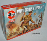AIRFIX 0727  WW1 BRITISH INFANTRY. 1/76 SCALE FIGURES. EARLY WAR CAPS.