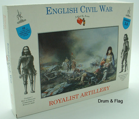 A CALL TO ARMS #14 - ENGLISH CIVIL WAR ROYALIST ARTILLERY CREW X 16 1/32 SCALE