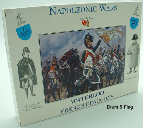 A CALL TO ARMS SET #20. FRENCH DRAGOONS. 1/32 SCALE. NAPOLEONIC ERA