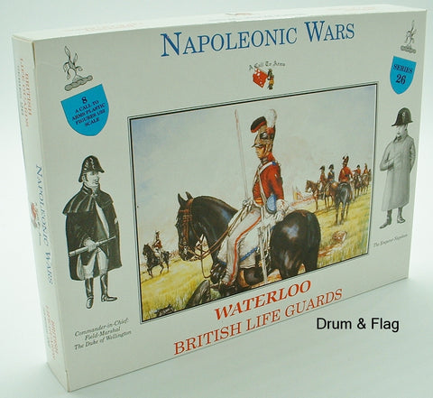 A CALL TO ARMS 26 - NAPOLEONIC WATERLOO BRITISH LIFE GUARDS. 1/32 SCALE CAVALRY