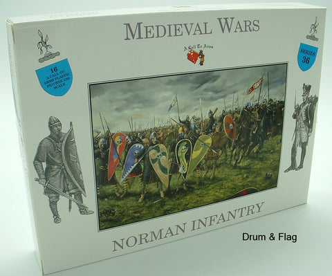 A CALL TO ARMS SET #36 - NORMAN INFANTRY - NORMANS. 1:32 SCALE UNPAINTED PLASTIC