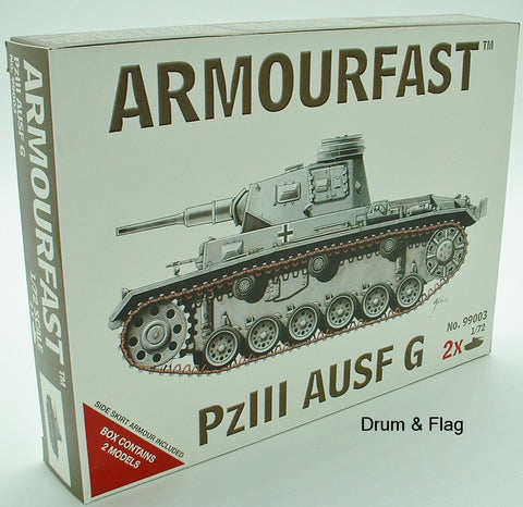 ARMOURFAST 99003. PzIII AUSF G. GERMAN TANK. 1/72 SCALE TANKS. PLASTIC KIT