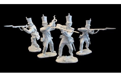 PARAGON - Alamo Mexican Regiment Set #1. c60mm Unpainted Plastic. PS012PB