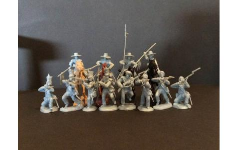 PARAGON - Alamo Mexican Cavalry & Infantry Set #3. c60mm Unpainted Plastic. PS016PB