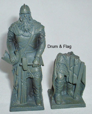 HELM HAMMERHAND STATUE & RUINED STATUE. PLAY ALONG HELMS DEEP PARTS.