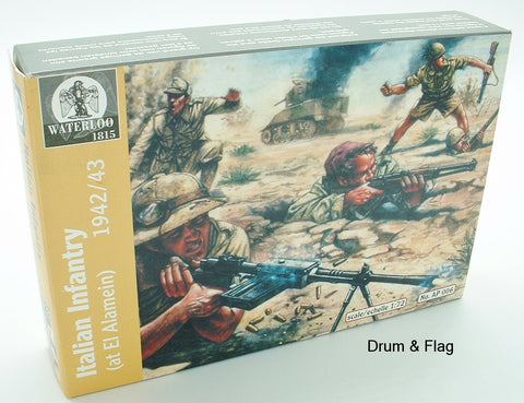 Waterloo 1815 AP006: WW2 Italian Infantry 1942/3.1/72 Scale. WWII El Alamein