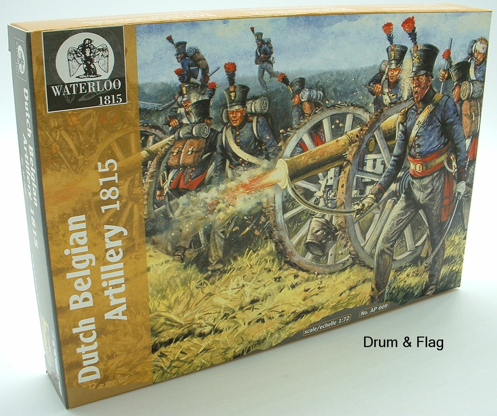 Waterloo1815 Dutch Belgian Artillery AP009 1/72 Scale - Napoleonic
