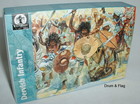 WATERLOO 1815 AP011. DERVISH INFANTRY. DERVISHES. SUDAN 1/72 SCALE.