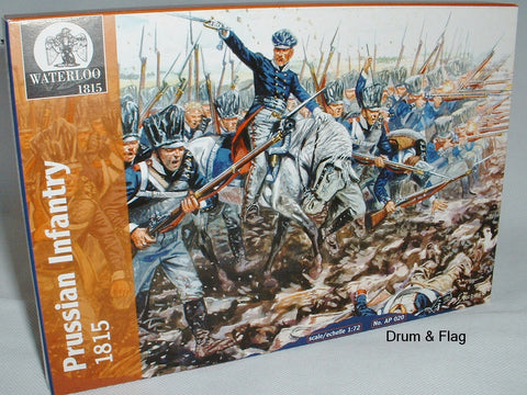 WATERLOO 1815 AP020. NAPOLEONIC PRUSSIAN INFANTRY. 1/72 SCALE PRUSSIANS.