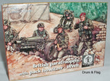 WATERLOO 1815 AP036 BRITISH PARATROOPERS & PACK HOWITZER. WW2. 1:72 SCALE Paras
