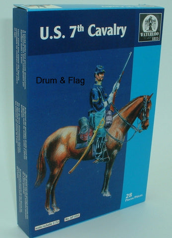WATERLOO 1815 AP050 U.S. 7th CAVALRY. 1/72 SCALE X 14 MOUNTED FIGURES. US.