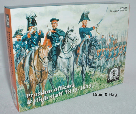 WATERLOO 1815 AP058 NAPOLEONIC PRUSSIAN OFFICERS & HIGH STAFF 1813-1815. 1/72 SCALE