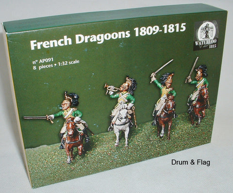 WATERLOO 1815 AP091 NAPOLEONIC FRENCH DRAGOONS (ex - Italeri) 1/32 SCALE