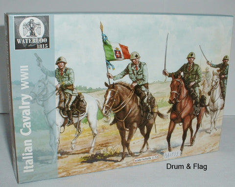 Waterloo1815 AP999 WW2 ITALIAN CAVALRY 1:72 SCALE UNPAINTED PLASTIC FIGURES X 10