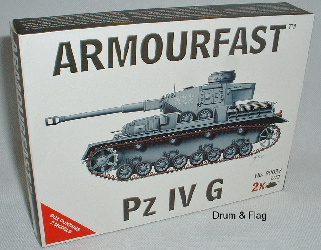 ARMOURFAST 99027 WW2 GERMAN TANK PZ IV G 1:72 KIT PzIV