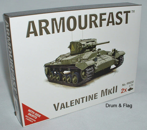 ARMOURFAST 99030. VALENTINE MKII TANK. 1/72 SCALE