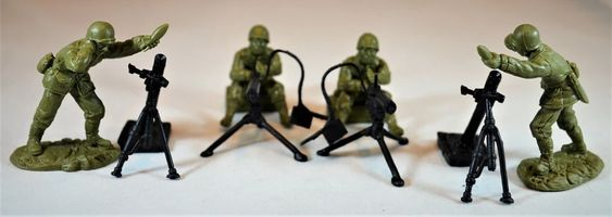 TSSD # WWII US INFANTRY FIRE SUPPORT / HEAVY WEAPONS. c60mm Unpainted Plastic