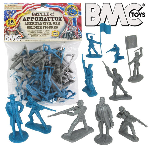BMC Toys Battle of Appomattox American Civil War Soldier Figures Set 1/32 Scale 54mm