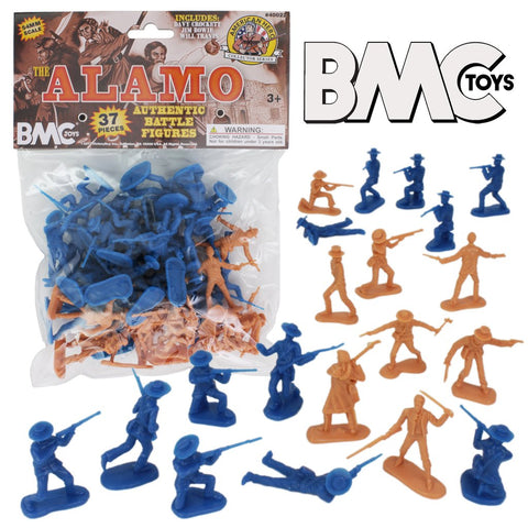BMC Toys Alamo Authentic Battle Figures Set. 1/32 Scale 54mm