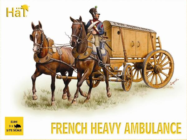 HAT 8104 - FRENCH HEAVY AMBULANCE - 1/72 SCALE PLASTIC.