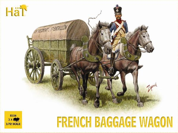 HAT 8106 NAPOLEONIC FRENCH BAGGAGE WAGON.  1/72 SCALE UNPAINTED PLASTIC