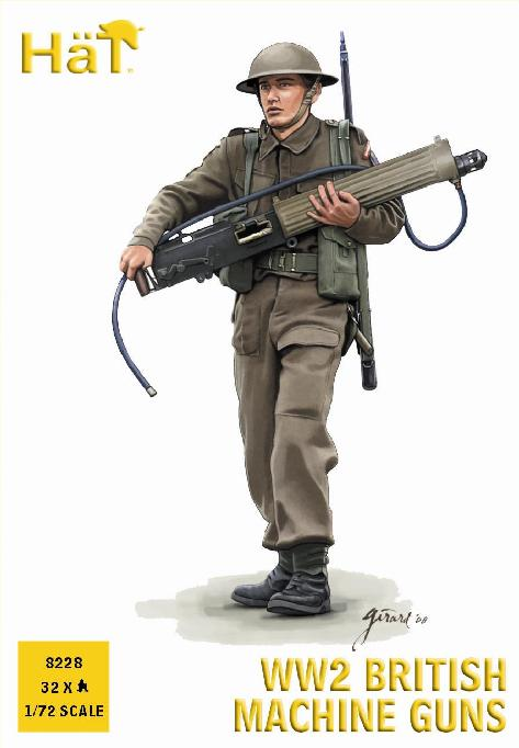 HAT 8228 - WW2 BRITISH MACHINE GUNS - 1/72 SCALE PLASTIC