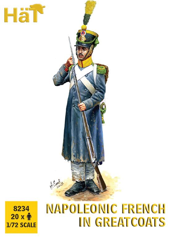 HaT 8234 Napoleonic French Greatcoats Marching 1/72 scale.