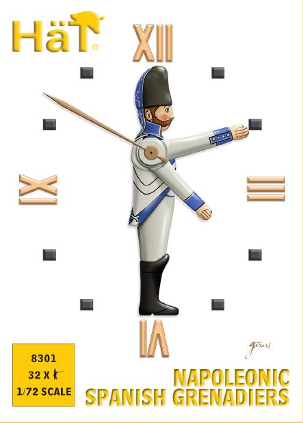 HaT 8301 Napoleonic Spanish Grenadiers 1/72 Scale