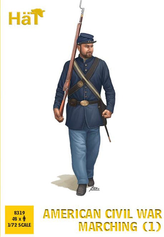 HaT 8319 American Civil War Marching Set #1. 1/72 Scale