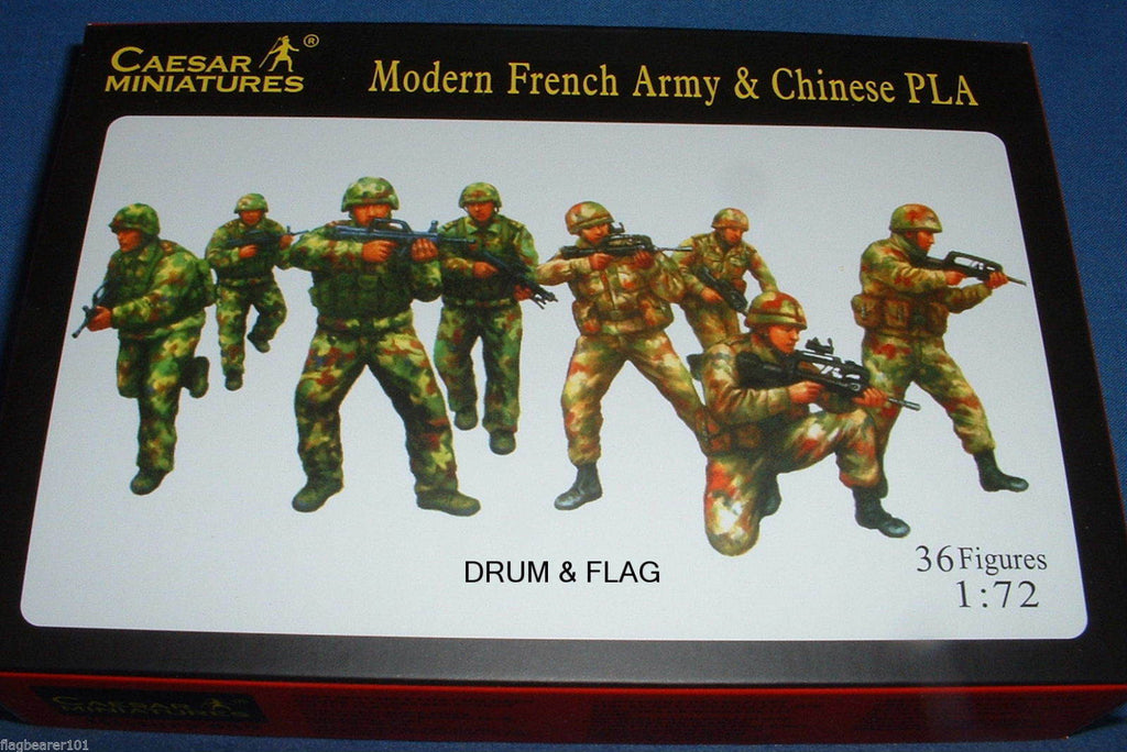 CAESAR set #59. MODERN FRENCH ARMY & CHINESE PLA. 1/72 SCALE.
