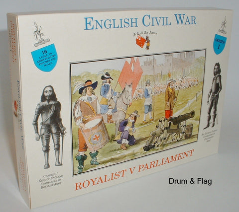 A CALL TO ARMS 1. ENGLISH CIVIL WAR ROYALIST vs PARLIAMENT 1/32 COMMAND FIGS ETC