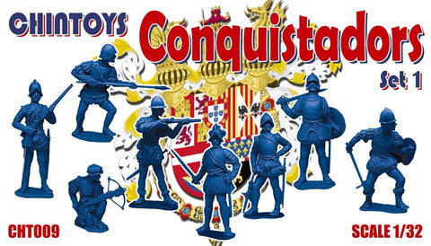 CHINTOYS cht009 CONQUISTADORS 1/32 SCALE 55-60mm