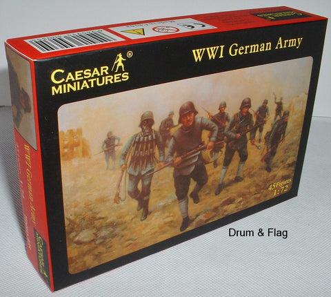 CAESAR #35 - WW1 GERMAN ARMY - 1/72 SCALE PLASTIC
