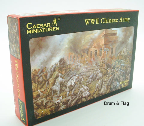 CAESAR 36 - WW2 CHINESE ARMY - 1/72 SCALE PLASTIC