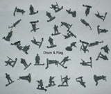 CAESAR SET #38 WWII FRENCH ARMY - 1/72 SCALE UNPAINTED PLASTIC FIGURES X 37