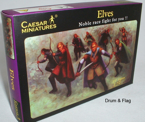 CAESAR Fantasy Set #102 - ELVES. 1/72 SCALE PLASTIC