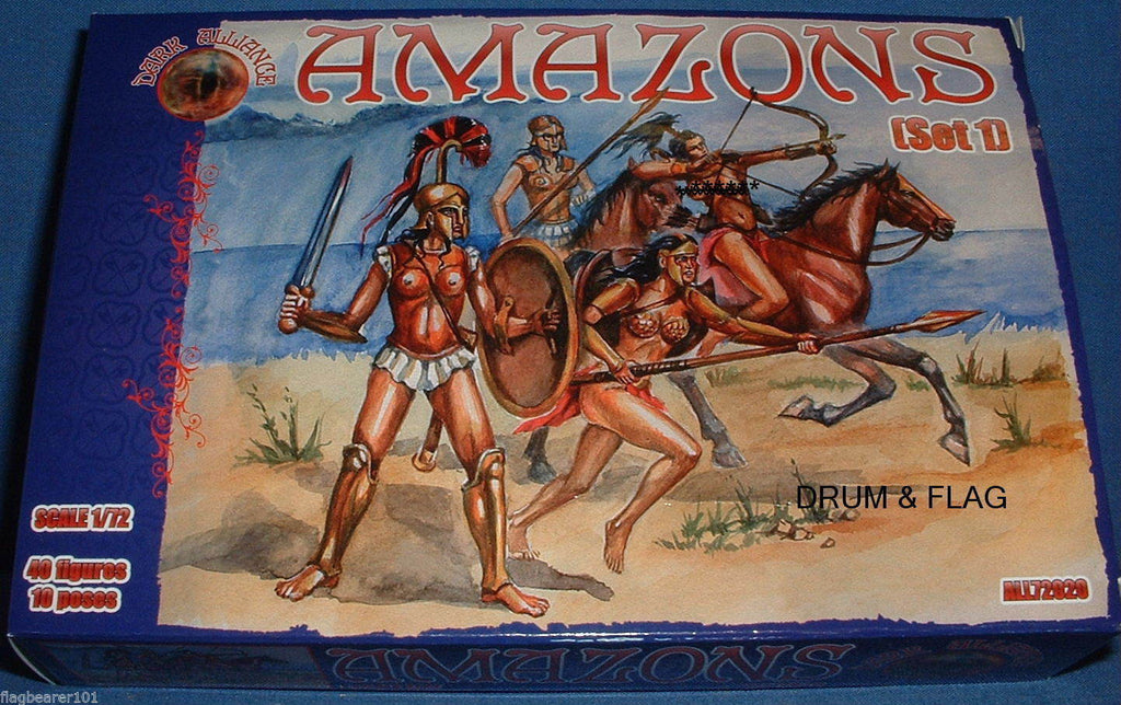 DARK ALLIANCE #72020. AMAZONS. 1/72 SCALE FIGS