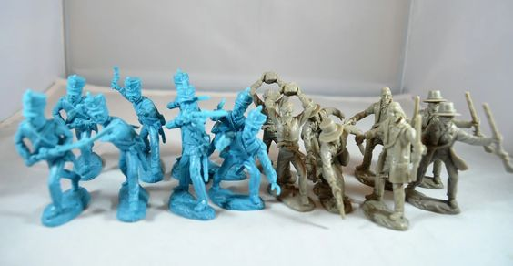 TSSD #25 ALAMO MEXICANS VS TEXANS HAND TO HAND COMBAT. 60mm Unpainted Plastic