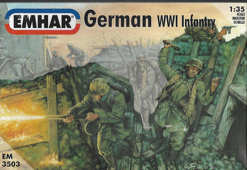 EMHAR 3503. German WW1 Infantry 12 x 1:35 Scale Figures