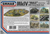 "EMHAR 5001. MKIV ""MALE"" WW1 HEAVY BATTLE TANK. 1:72 SCALE"